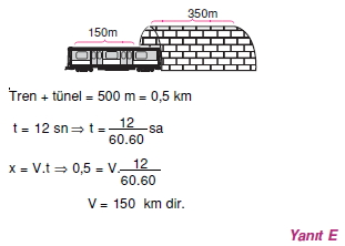 00448 Hareket Problemleri Çözümlü Soruları Test 1