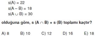 00471 Kümeler İle İlgili Sorular (Test 3 )