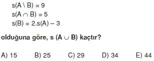 00565 Kümeler İle İlgili Sorular (Test 3 )