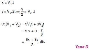 01423 Hareket Problemleri Çözümlü Soruları Test 1