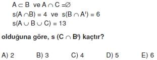 01830 Kümeler İle İlgili Sorular (Test 3 )