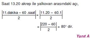 02016 Hareket Problemleri Çözümlü Soruları Test 1