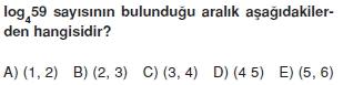 001107 Logaritma Soruları (Test 1 )