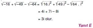 00187 Karmaşık Sayılar Çözümlü Sorular (Testi 1)