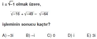00188 Karmaşık Sayılar Çözümlü Sorular (Testi 1)