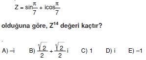 00189 Karmaşık Sayılar Çözümlü Sorular (Testi 1)