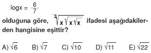 002109 Logaritma Soruları (Test 1 )