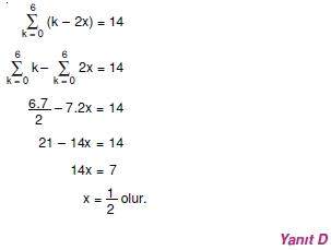 002118 Toplam Çarpım Sembolü Çözümlü Soruları (Test 1 )
