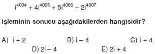 00287 Karmaşık Sayılar Çözümlü Sorular (Testi 2)