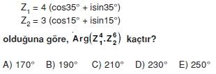 00292 Karmaşık Sayılar Çözümlü Sorular (Testi 1)
