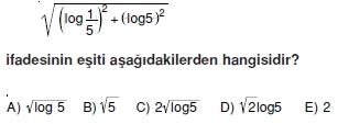 003110 Logaritma Soruları (Test 1 )