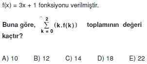 003120 Toplam Çarpım Sembolü Çözümlü Soruları (Test 1 )