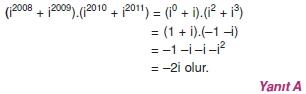 00392 Karmaşık Sayılar Çözümlü Sorular (Testi 1)