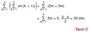 004120 Toplam Çarpım Sembolü Çözümlü Soruları (Test 1 )