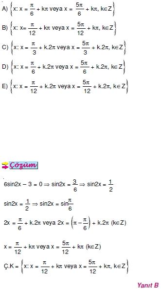 00474 Trigonometrik Denklemler