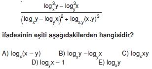 005104 Logaritma Soruları (Test 1 )