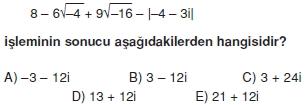 00583 Karmaşık Sayılar Çözümlü Sorular (Testi 2)