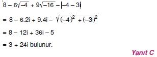 00584 Karmaşık Sayılar Çözümlü Sorular (Testi 2)