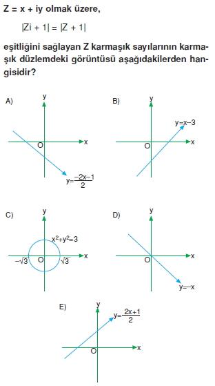 00587 Karmaşık Sayılar Çözümlü Sorular (Testi 1)
