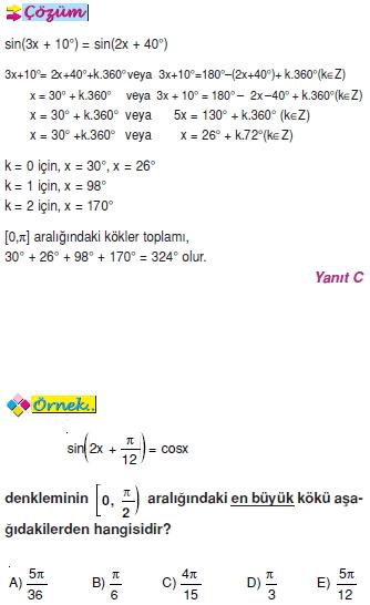 00668 Trigonometrik Denklemler