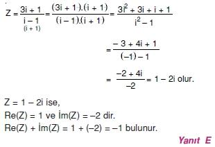 00688 Karmaşık Sayılar Çözümlü Sorular (Testi 1)