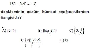 007101 Logaritma Soruları (Test 1 )