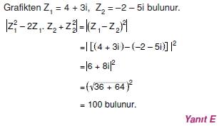 00877 Karmaşık Sayılar Çözümlü Sorular (Testi 2)