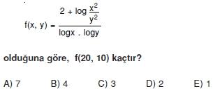 00897 Logaritma Soruları (Test 1 )