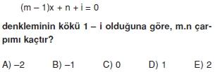 00973 Karmaşık Sayılar Çözümlü Sorular (Testi 2)