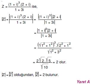 00975 Karmaşık Sayılar Çözümlü Sorular (Testi 1)