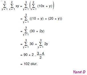 00999 Toplam Çarpım Sembolü Çözümlü Soruları (Test 1 )