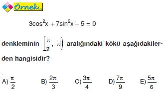 01053 Trigonometrik Denklemler