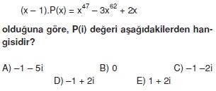 01067 Karmaşık Sayılar Çözümlü Sorular (Testi 2)