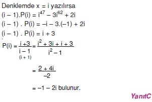 01068 Karmaşık Sayılar Çözümlü Sorular (Testi 2)