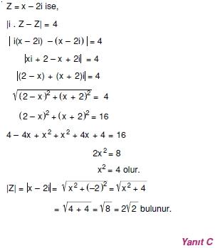 01069 Karmaşık Sayılar Çözümlü Sorular (Testi 1)