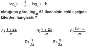 01086 Logaritma Soruları (Test 1 )