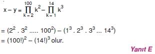 01089 Toplam Çarpım Sembolü Çözümlü Soruları (Test 1 )
