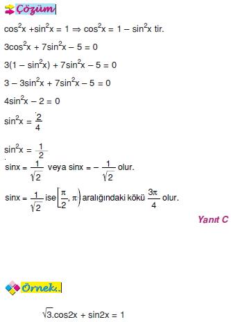 01150 Trigonometrik Denklemler