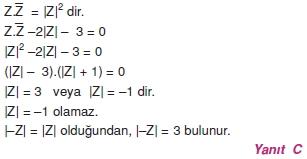 01167 Karmaşık Sayılar Çözümlü Sorular (Testi 1)