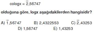 01185 Logaritma Soruları (Test 1 )