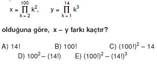 01188 Toplam Çarpım Sembolü Çözümlü Soruları (Test 1 )