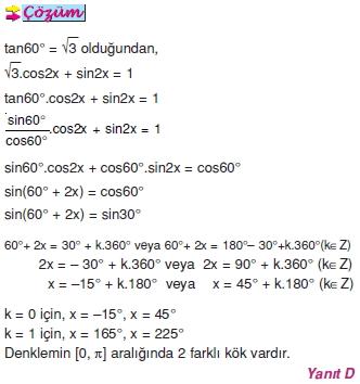 01251 Trigonometrik Denklemler
