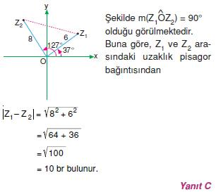 01268 Karmaşık Sayılar Çözümlü Sorular (Testi 2)