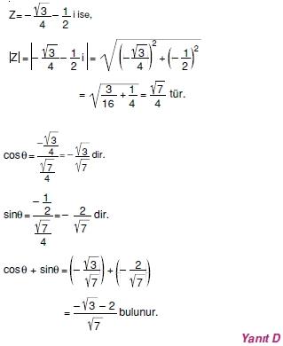 01269 Karmaşık Sayılar Çözümlü Sorular (Testi 1)