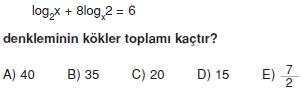 01287 Logaritma Soruları (Test 1 )