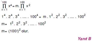 01289 Toplam Çarpım Sembolü Çözümlü Soruları (Test 1 )