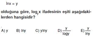 01374 Logaritma Soruları (Test 1 )