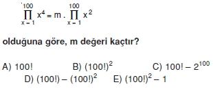 01377 Toplam Çarpım Sembolü Çözümlü Soruları (Test 1 )
