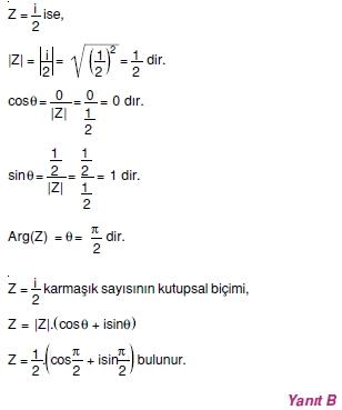 01456 Karmaşık Sayılar Çözümlü Sorular (Testi 1)