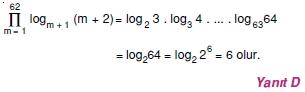 01474 Toplam Çarpım Sembolü Çözümlü Soruları (Test 1 )